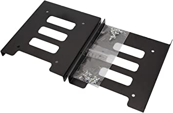 Amazon Com Ssd Mounting Bracket Snanshi Ssd Bracket 2 5 To 3 5 Adapter Ssd Hdd Metal Mounting Bracket Adapter Hard Drive Holder For Pc Ssd Pack Of 2 Computers Accessories