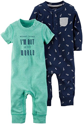Carters Baby Boys Aircraft Rompers