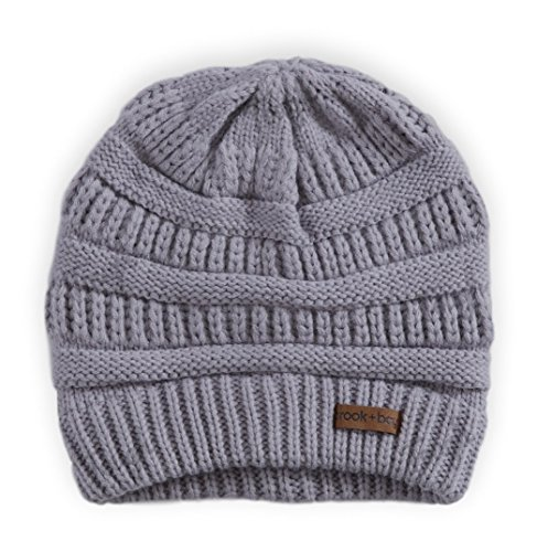 Review Brook + Bay Cable Knit Multicolored Beanie by Stay Warm & Stylish this Winter – Thick, Soft & Chunky Beanie Hats for Women & Men – Serious Beanies for Serious Style (Gray)
