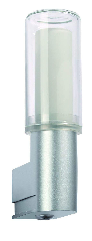 DS applique Basis PIR IP44 11 W chrome mat, plastique Paulmann