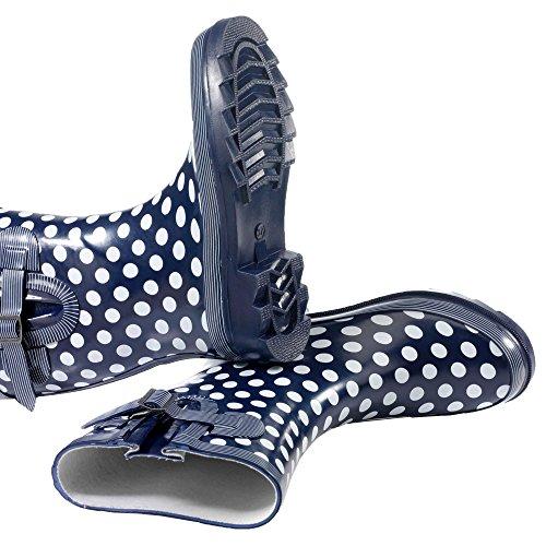 Botas de agua para mujer Bockstiegel modelo Dorin - azul marino/blanco
