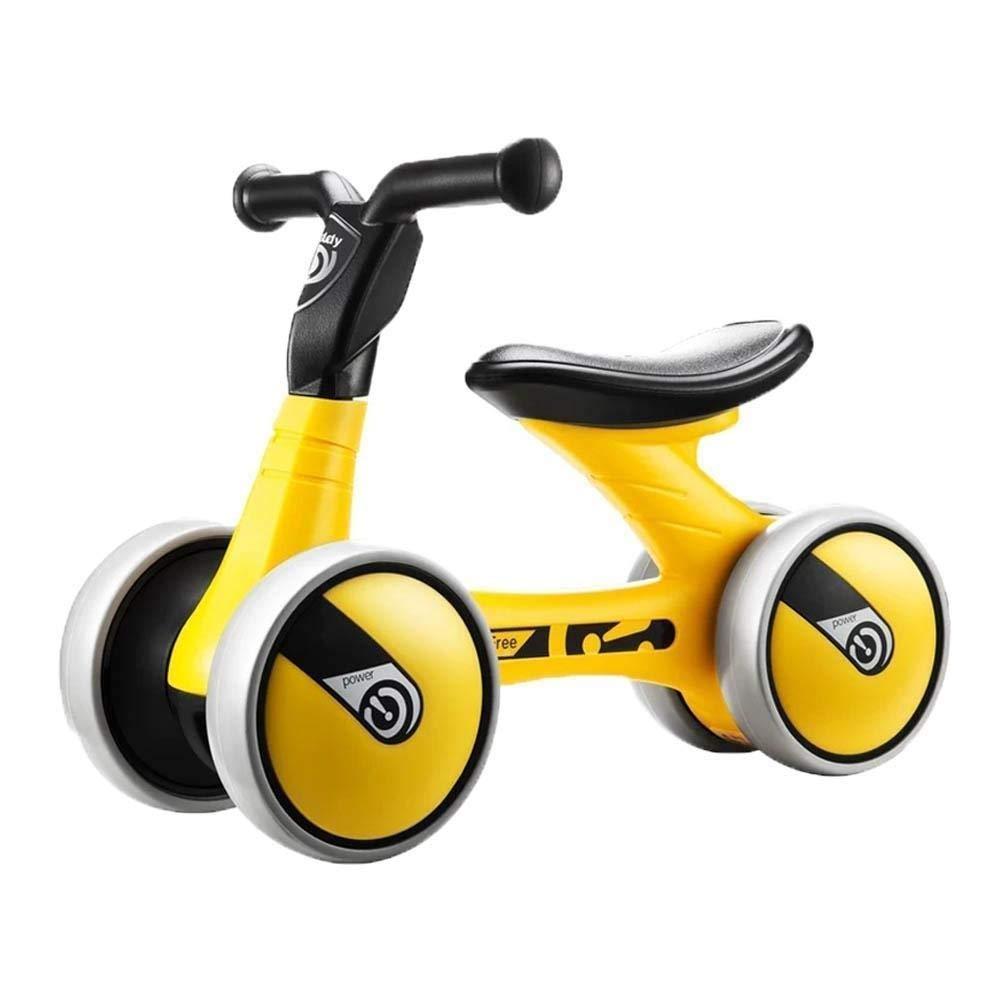 jaune  Haaemy Bébé   Bike No Pedal   voiture Ride sur Toy pour 1-3 Ans Enfants Walker Âge 12-36 Mois Durable Enfant Tricycle Infant Intérieur en Plein Air