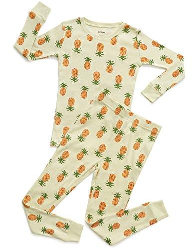 Leveret Organic Cotton Pineapple 2 Piece Pajama Set 14 Years