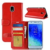 kakalong Samsung Galaxy J3 (2018) Luxury Slim PU Leather Flip Protective Magnetic Wallet Cover Case with Card Slot and Stand Feature