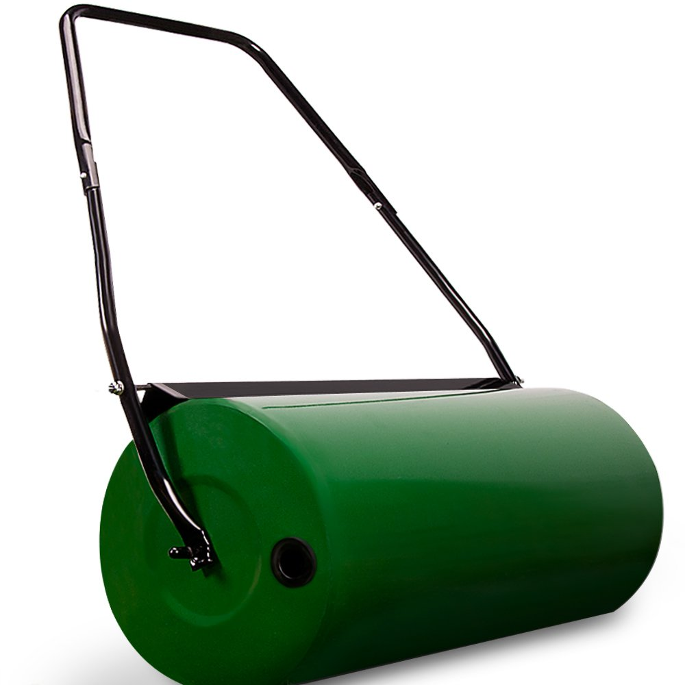 Garden Lawn Roller 60 Kg Drum Incl. Scraper Bar✔ Heavy Duty✔ Collapsible Handle✔ Fillable With Sand Or Water✔ 60cm Working Width✔ Deuba