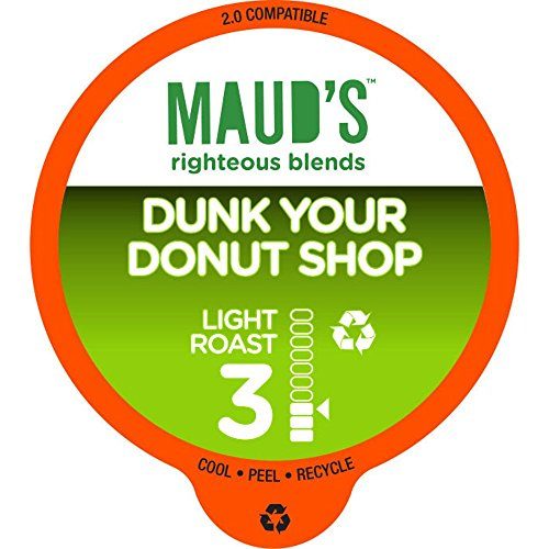 Maud's Gourmet Coffee Pods, Dunk Your Donut Shop, 96 Single Serve Coffee - Dunk Light