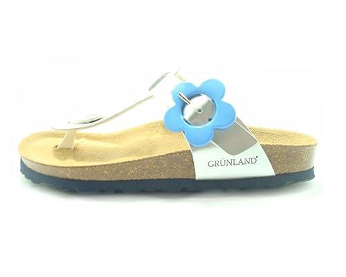 Grünland Junior Girls  Thong Sandals argento azzurro Size  13 UK ... a6d8e46b2e6