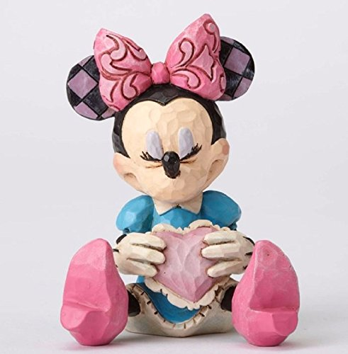 Enesco Jim Shore Disney Traditions Mini Minnie Mouse Holding a Heart Figurine - Heart Figurine Holding