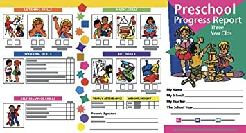 Amazon.com: Hayes Progress Report - Ages 3, Pack of 10: Toys & Games