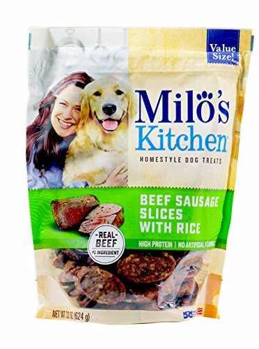 Milo's Kitchen Beef Sausage Slices with Rice 22 oz.