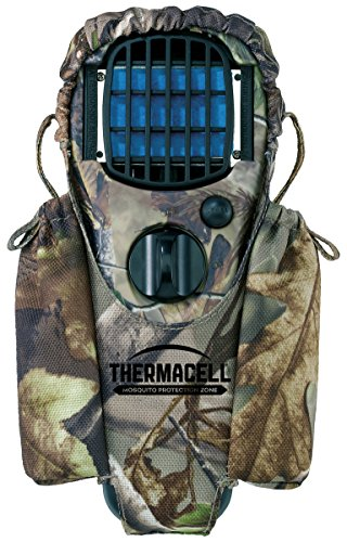 Thermacell Appliance - Thermacell Holster for MR150 Portable Mosquito Repeller; Realtree Camo Nylon Composition with Dual Refill Storage Pockets; Elastic Closures, 360-Degree Rotating Clip Attaches to Packs, Belts and More