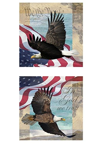 In God We Trust   We The People  Patriotic Freedom Posters  Two 12X12s