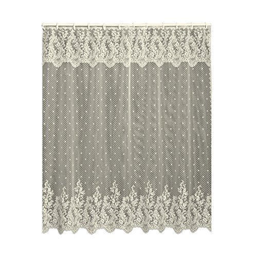 (Heritage Lace Floret 72-Inch by 72-Inch Shower Curtain, Ecru)