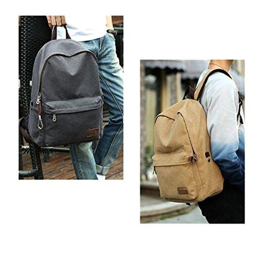Junge Männer Frauen Schulranzen Mode Trends Reisen Leinwand Freizeit Outdoor Rucksack,Black Blue