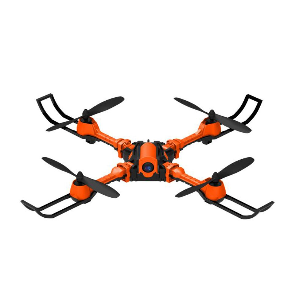 EBILUN RC Drohne mit HD-Kamera 3D-Flip 4CH 6 Achsen 0.3MP Gyro Faltbare Fernbedienung FPV Wifi Quadcopter für Kinder und Erwachsene Orange