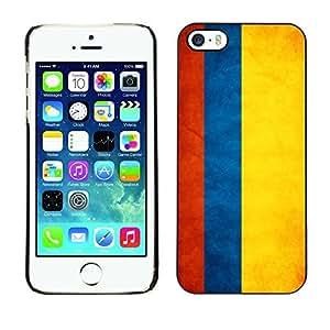 YOYO Slim PC / Aluminium Case Cover Armor Shell Portection //Colombia Grunge Flag //Apple Iphone 5 / 5S