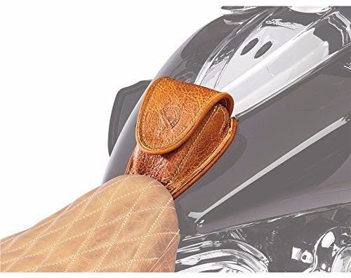 (2014-2019 Indian Motorcycle Genuine Leather Tank Pouch - Desert Tan 2880142-05)