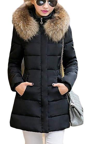 19e00985d88 Amazon.com  SELX-Women Stylish Plus Size Coat Overcoat Long Down Outwear Puffer  Jacket  Clothing