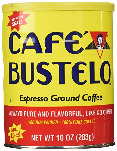 Cafe Bustelo Espresso Ground Coffee, 10 Ounce Can, Packaging May Vary