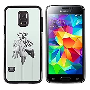 A-type Colorful Printed Hard Protective Back Case Cover Shell Skin for Samsung Galaxy S5 Mini / Samsung Galaxy S5 Mini Duos / SM-G800 !!!NOT S5 REGULAR! ( Hands Puppet Master Deep Meaning )