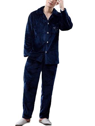 DAFREW Pijama de terciopelo de coral de invierno, mangas largas gruesas ropa de casa caliente Ropa de sport cómoda: Amazon.es: Ropa y accesorios