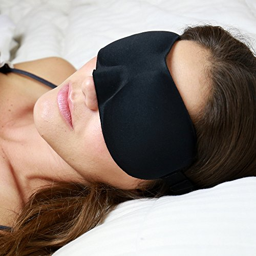 SLMBR Sleep Mask for Men and Women - Contoured All In One Travel Eye Mask with (Fitting Ear Plugs)