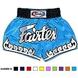 Fairtex Short de boxe satiné Taille: S/M/L/XL Couleur: Noir, rouge, bleu, blanc, jaune, rose, vert