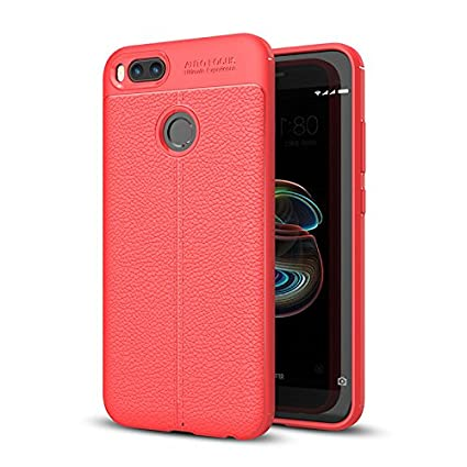 Micvir Mi A1 Back Cover Case Shockproof Complete Protection  Red  Mobile Phone Cases   Covers