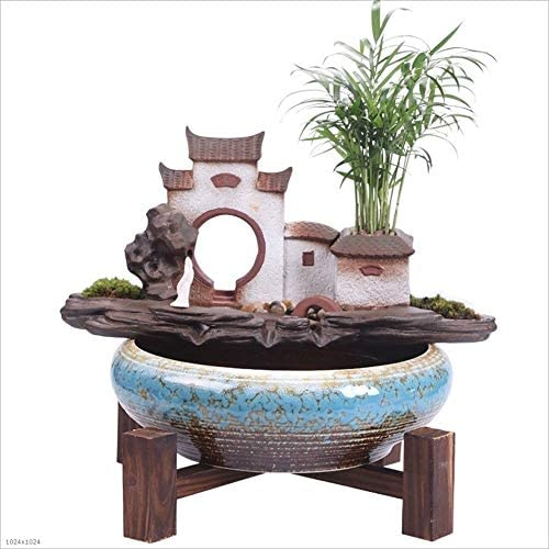 Amazon Com Indoor Fountain Viewing Large Water Fountain Decoration Home Porch Zen Light With Light Shining New Chinese Feng Shui Decorations Indoor Water Fountain Size 13 3813 77inch Home Kitchen