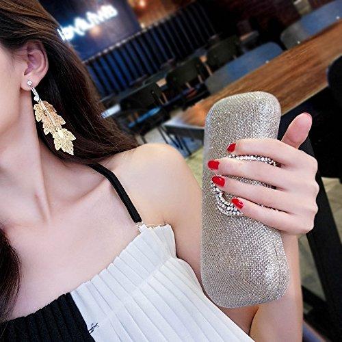 Generic Rhinestone leaves metal earrings women girls lady exaggerated personality influx of people in Europe and America earrings Korean temperament long paragraph earrings ear jewelry