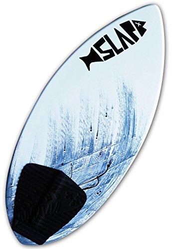 "Slapfish Skimboards - Fiberglass & Carbon with Traction Deck Grip - Kids & Adults - 2 Sizes - Gray (48"" Board)"