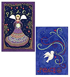 Toland Home (28x 40) (bandera 2Pack–Paloma de la Paz–paz ángel–2Paquete por Maven Regalos