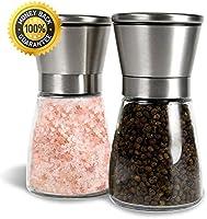 Salz und Pfeffermühle, Allezola Salz- Pfeffermühlen Set mit verstellbarem Keramik