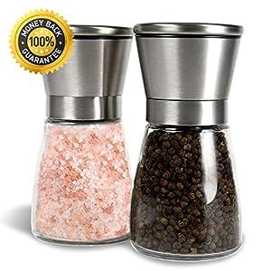 Salz- und Pfeffermühle Set, Allezola Premium Salz- und Pfeffermühle Set mit...