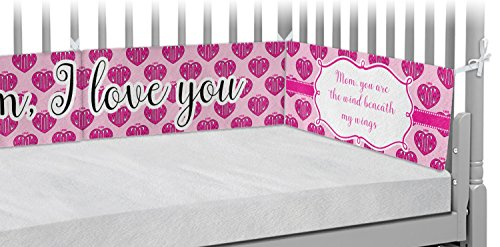 Love You Mom Crib Bumper Pads by RNK Shops
