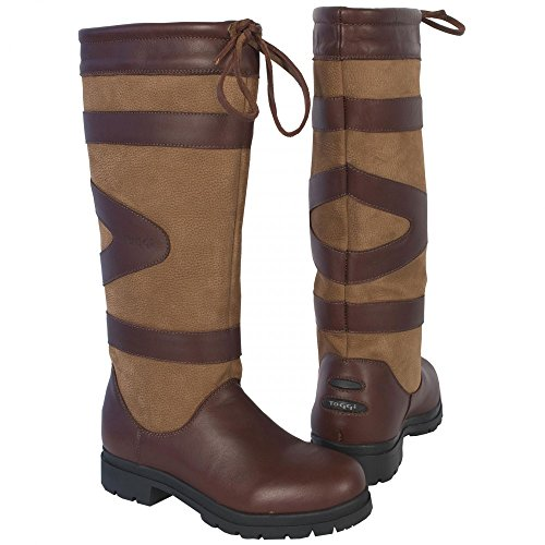 Toggi Berkeley Country Long Waterproof Boot In Cedar Brown, Size: 9 (EU 43) by William Hunter Equestrian