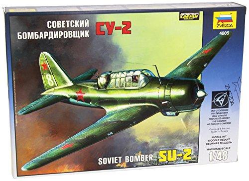 Zvezda Models Sukhoi SU-2 Soviet Light Bomber (1/48 Scale)