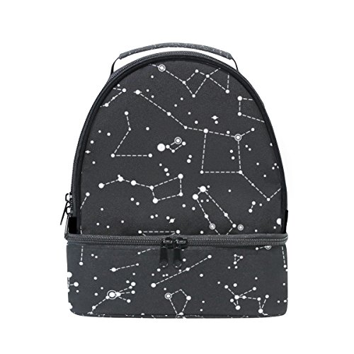 Cooper girl Constellations Star Lunch Bag Cooler Tote Bag Large Capacity for Women Men Adult Kids Boys Girls ()