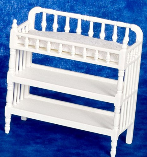Dollhouse Miniature White Victorian Changing Table