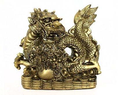 Dragón De Figuras De Feng Shui De Dragón De La Suerte De Símbolo 02