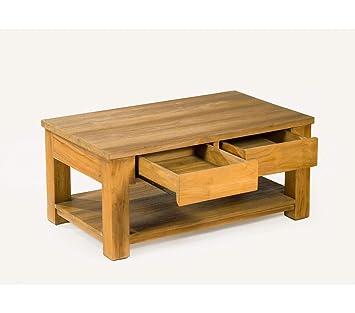 Table Basse Teck Massif.Table Basse En Teck Massif Rectangle 100 Cm X 60 Cm Amazon