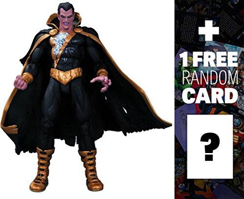 """Black Adam: ~7"""" DC Collectibles Comics Super Villains Action Figures Series + 1 FREE Official DC Trading Card Bundle"""