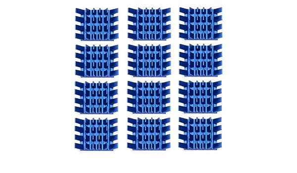 DORATA 13x14x6mm 12pcs Aluminum Heatsink For Memory RAM IC Chipset Cooler Radiator Adhesive RAM Heat Sink
