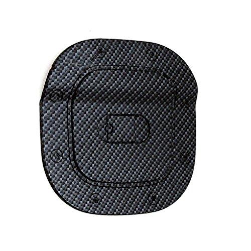 E-Autogrilles Black Carbon Fiber Look ABS Gas Tank Fuel Door Cover for 07-11 Honda CRV (66-2901CF)