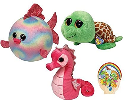 c3518dd474ade Amazon.com  Ty Beanie Babies Pink Majestic Seahorse -Boos Green ...