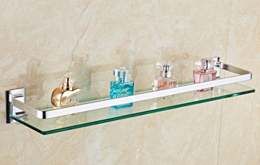 AEOJU Mensola bagno in vetro quadrato spessore 8 mm A
