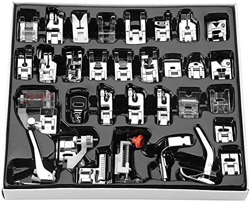 Prensatelas Doméstico de coser Kit de pies 32pcs profesionales Máquina de Coser Doméstica Aplicar para Brother/Babylock/New Home/Singer/Janome