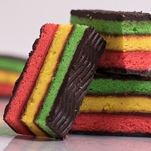 Delicious Home-style Italian Rainbow Cake Cookies, Perfect for - Christmas, Valentines Day, Fathers Day, Mothers Day or any Holiday - Gift - Kosher Parve - 10 ()