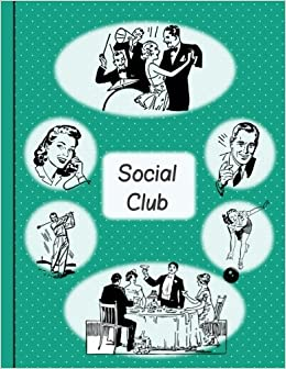 club meeting minutes book and monthly activity planner retro social
