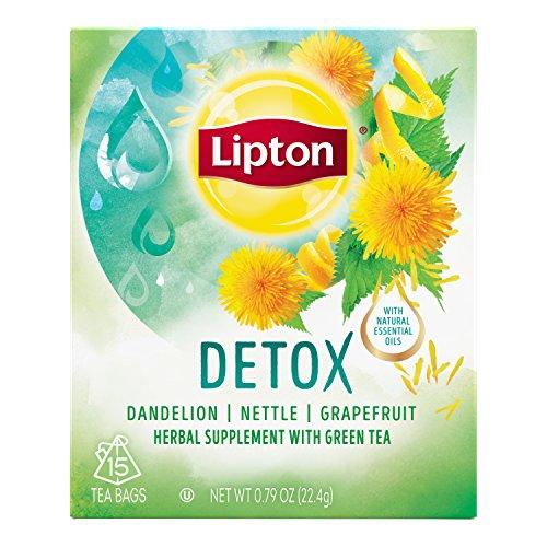 Lipton Herbal Supplement with Green Tea, Detox, 15 ct